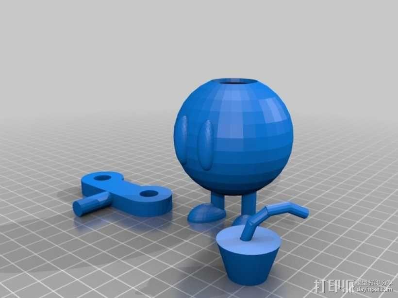 bob-omb 底座 3D模型  图1