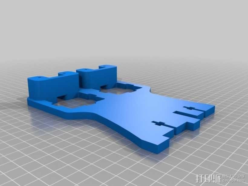 双挤出机架 3D模型  图3