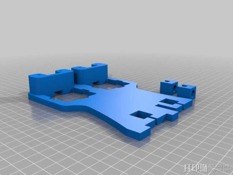 双挤出机架 3D模型  图2