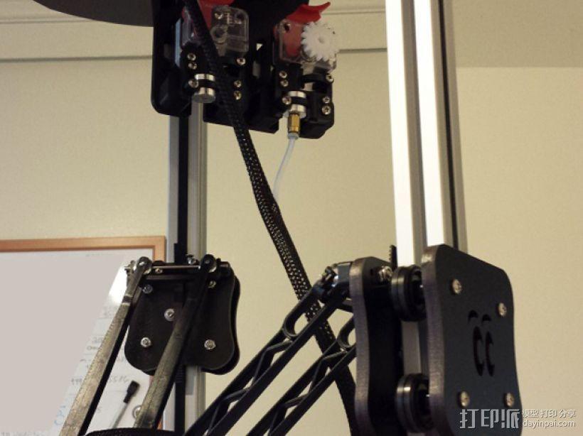 双挤出机架 3D模型  图4