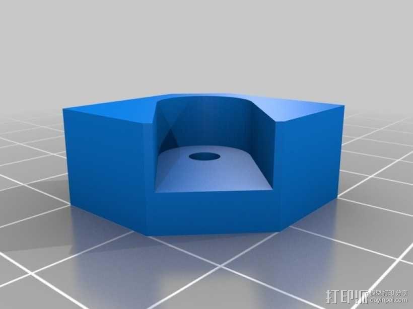 打印床角托架 3D模型  图2