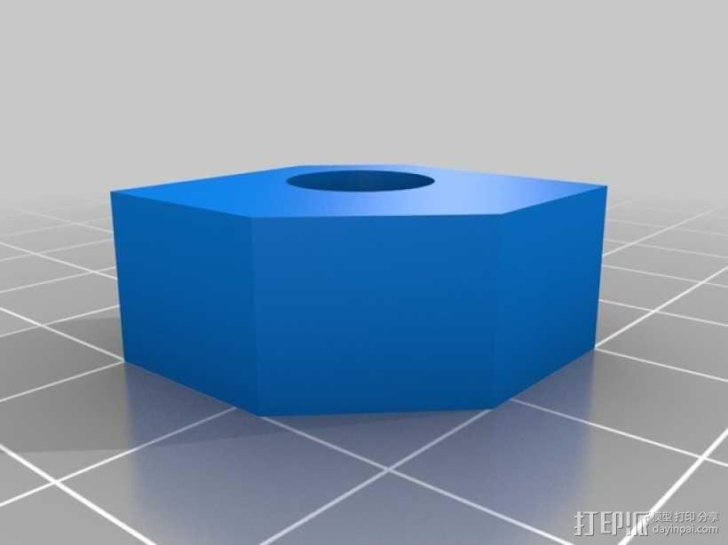 打印床角托架 3D模型  图4