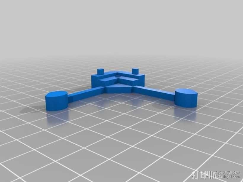 打印床角托架 3D模型  图3