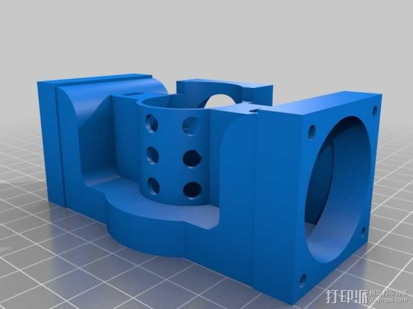 Prusa i3打印机J形头通风导管连接器 3D模型  图1