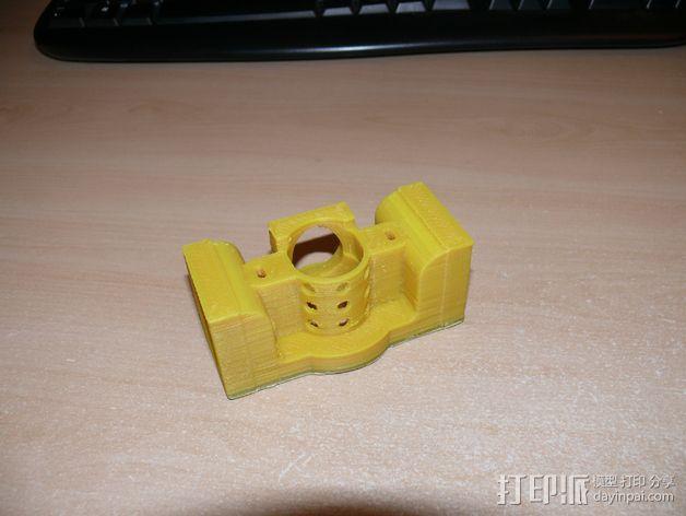 Prusa i3打印机J形头通风导管连接器 3D模型  图3