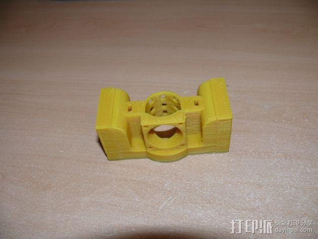 Prusa i3打印机J形头通风导管连接器 3D模型  图5