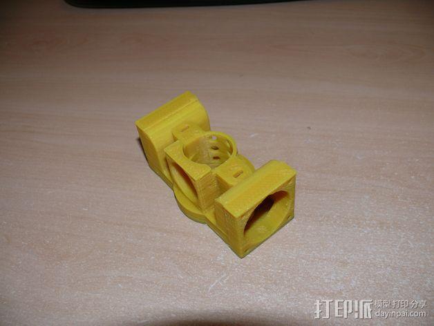 Prusa i3打印机J形头通风导管连接器 3D模型  图4