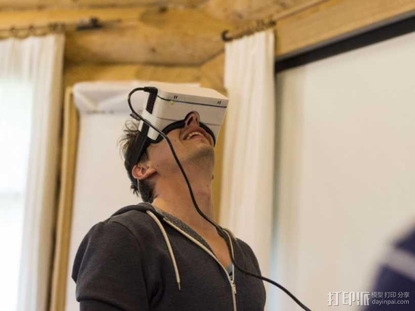 谷歌纸盒 虚拟现实眼镜 3D模型  图1