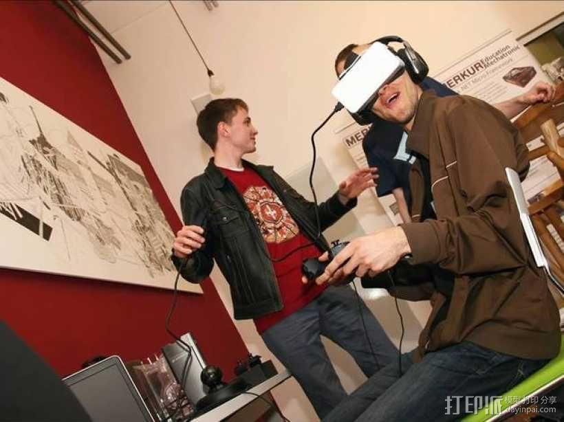 谷歌纸盒 虚拟现实眼镜 3D模型  图5
