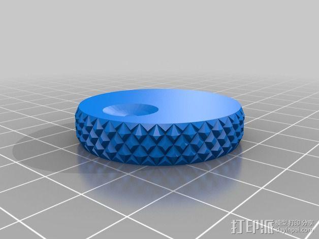 RepRap打印机控制器滚花旋钮 3D模型  图1