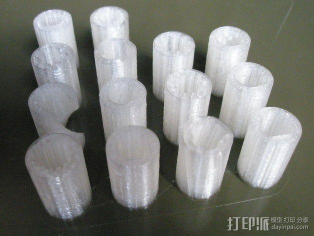 LM8UU 线性轴承 3D模型  图1