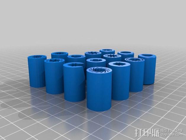 LM8UU 线性轴承 3D模型  图2