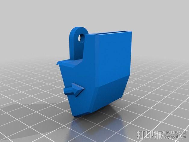 rostock max 打印机通风导管 3D模型  图2