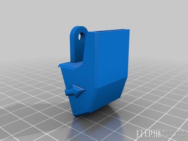 rostock max 打印机通风导管 3D模型  图3