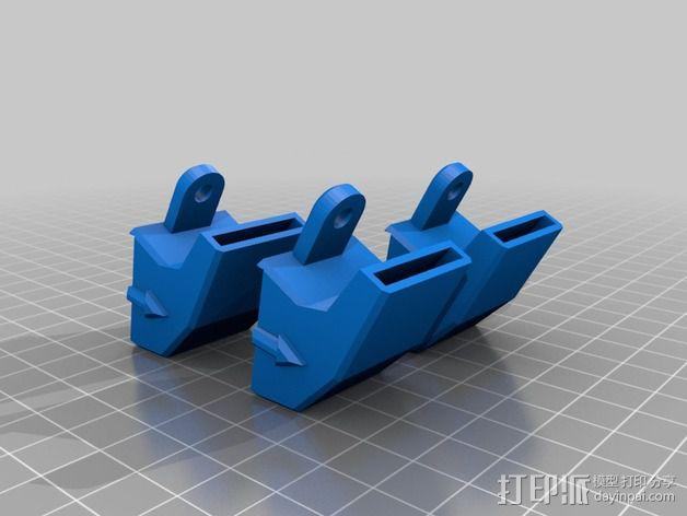 rostock max 打印机通风导管 3D模型  图4