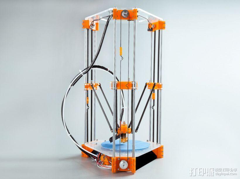 Rostock Mini Pro打印机外框 3D模型  图1