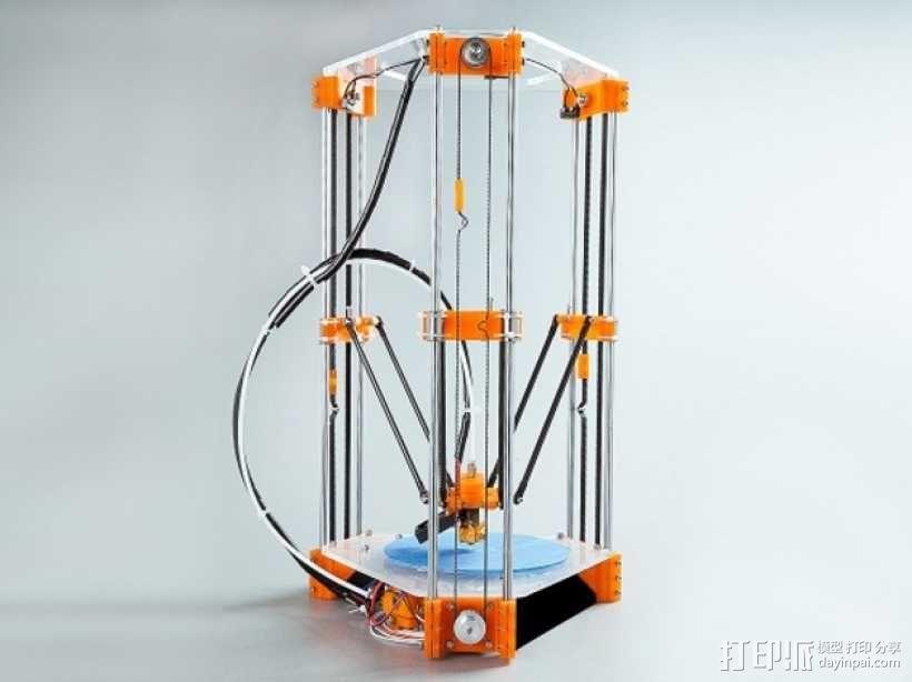 Rostock Mini Pro打印机外框 3D模型  图15
