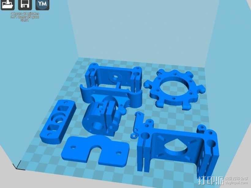 Rostock Mini Pro打印机外框 3D模型  图22