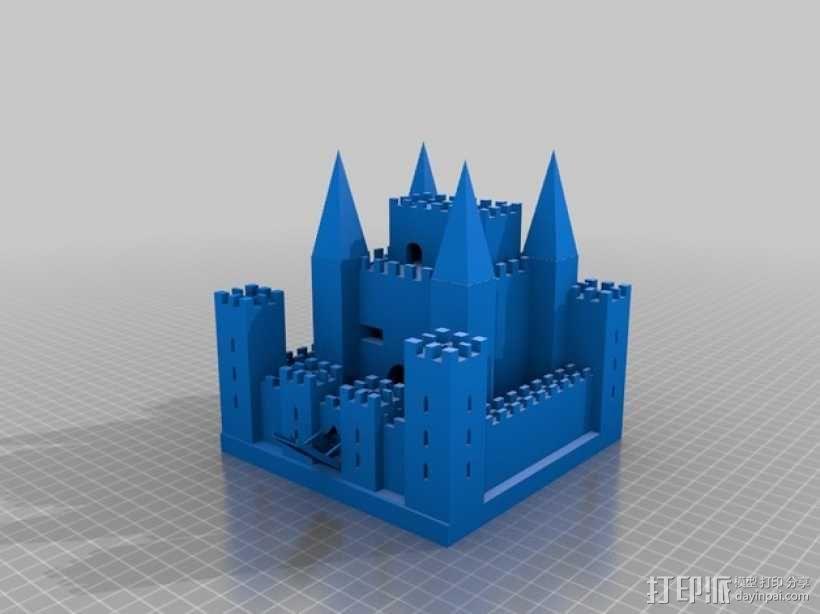 中世纪欧洲城堡 3D模型  图1
