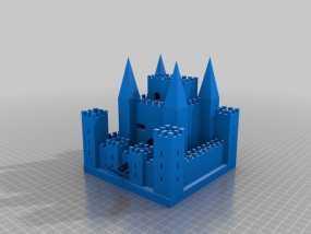 中世纪欧洲城堡 3D模型