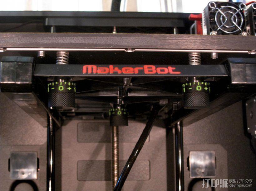 打印床高度调节旋钮 3D模型  图2