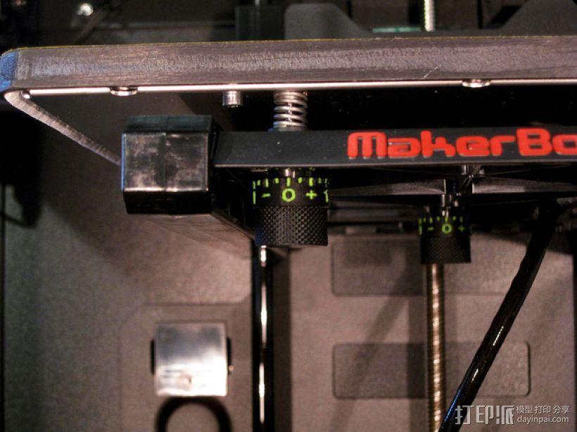 打印床高度调节旋钮 3D模型  图1