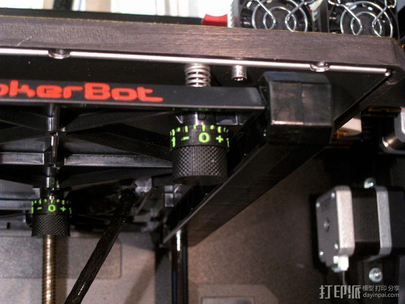 打印床高度调节旋钮 3D模型  图3