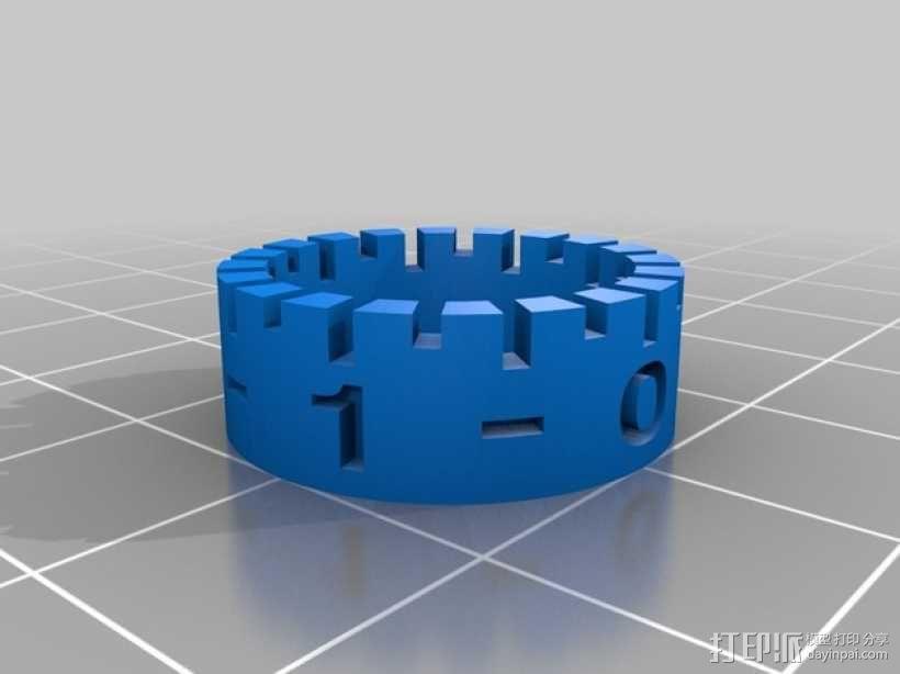 打印床高度调节旋钮 3D模型  图7