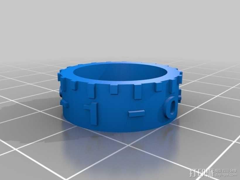 打印床高度调节旋钮 3D模型  图10