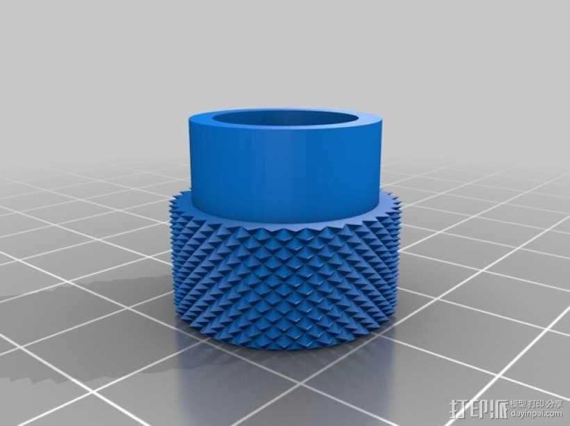 打印床高度调节旋钮 3D模型  图9