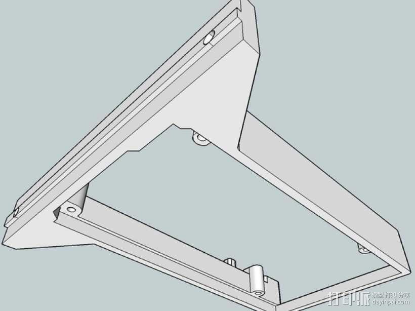 Kossel Mini打印机控制板底框 3D模型  图1