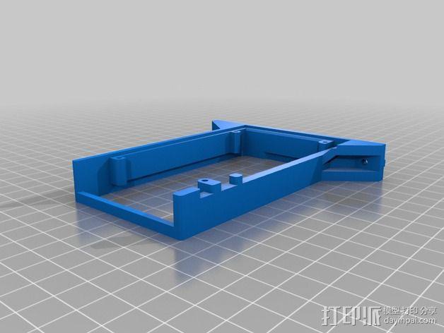 Kossel Mini打印机控制板底框 3D模型  图2