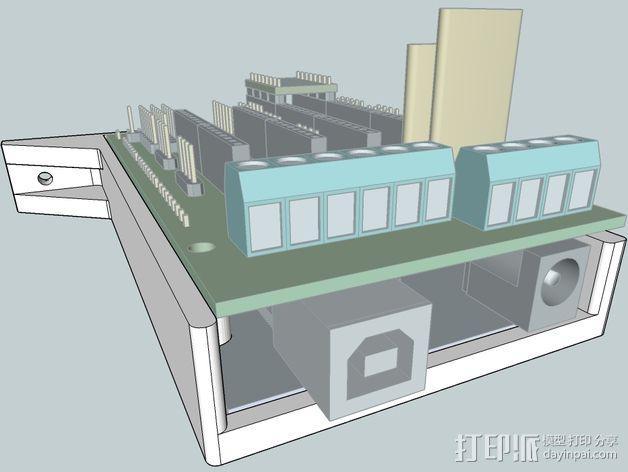 Kossel Mini打印机控制板底框 3D模型  图3