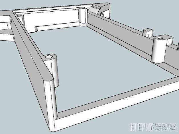 Kossel Mini打印机控制板底框 3D模型  图4