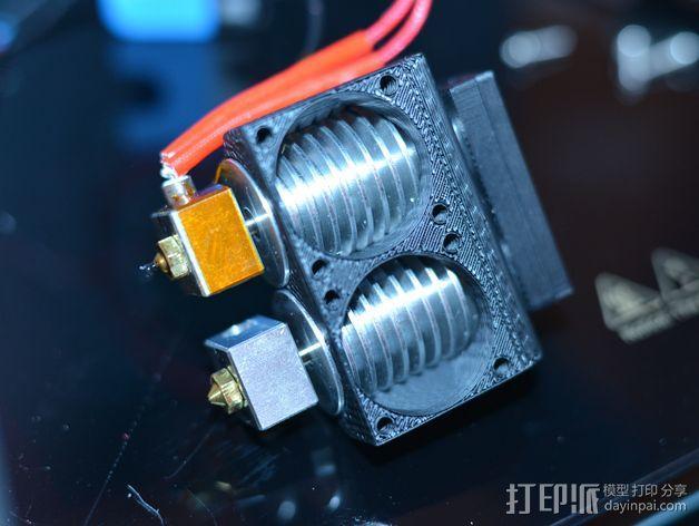 打印机喷嘴架 3D模型  图1