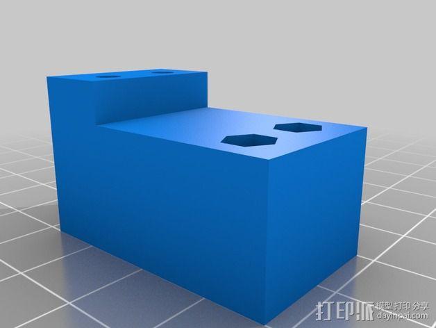 打印机喷嘴架 3D模型  图2
