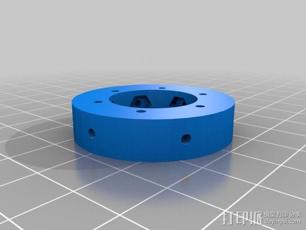 Kossel Deltabot打印机工具架 3D模型  图2