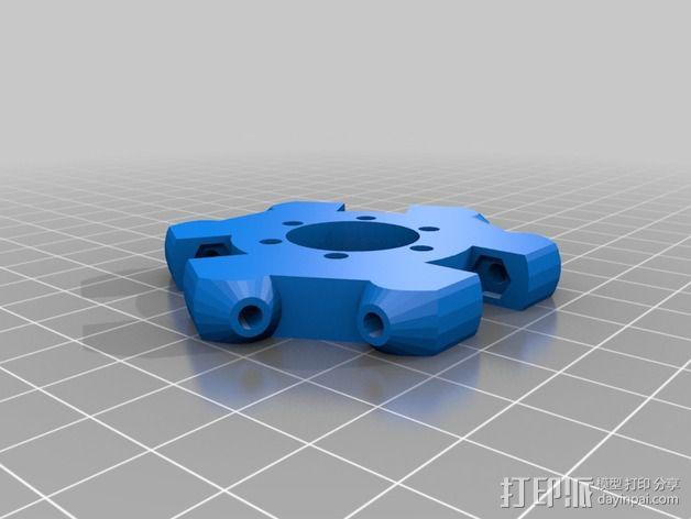 Kossel Deltabot打印机工具架 3D模型  图3