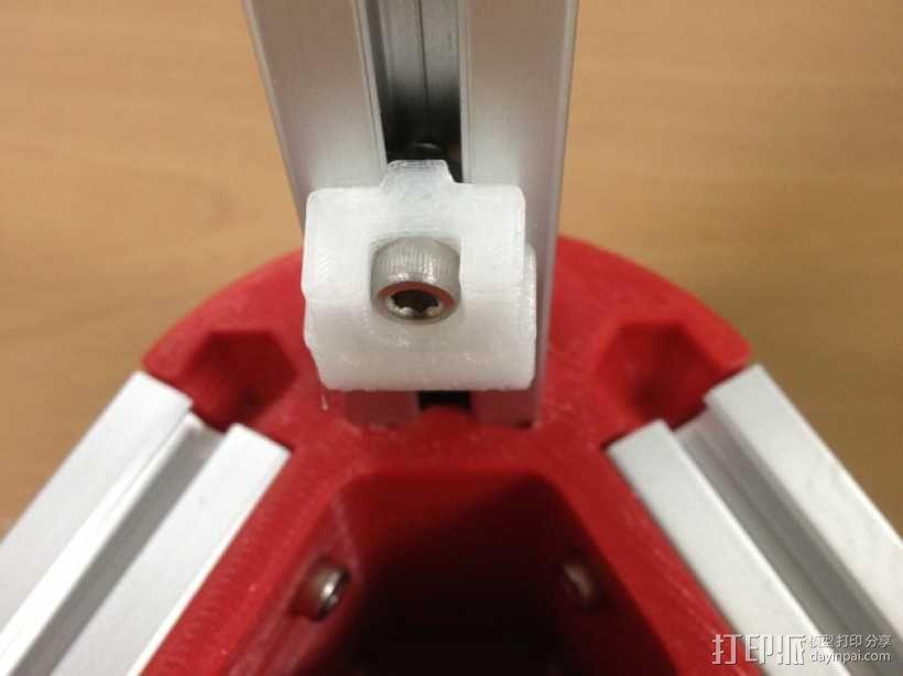 Kossel Mini打印机限位开关架 3D模型  图3