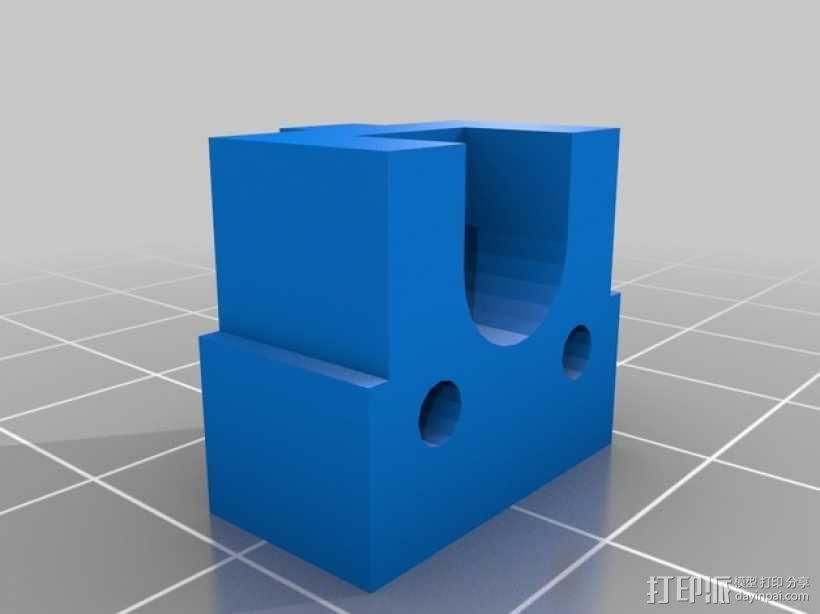 Kossel Mini打印机限位开关架 3D模型  图2