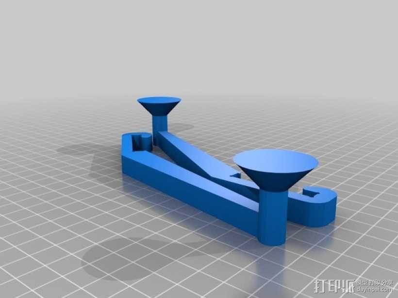 Prusa i3打印机线轴架 3D模型  图2