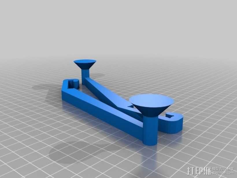 Prusa i3打印机线轴架 3D模型  图3