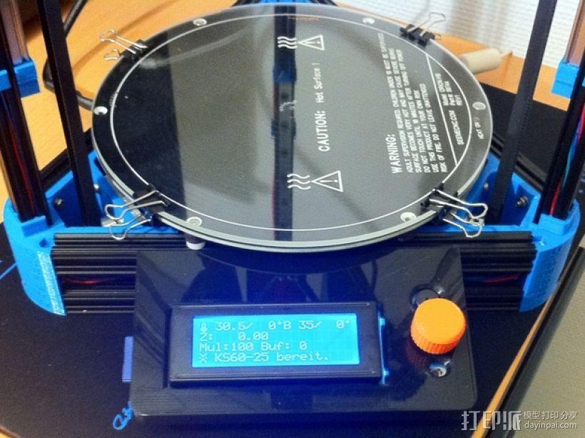 Kossel Mini打印机控制器LCD显示屏支架 3D模型  图1