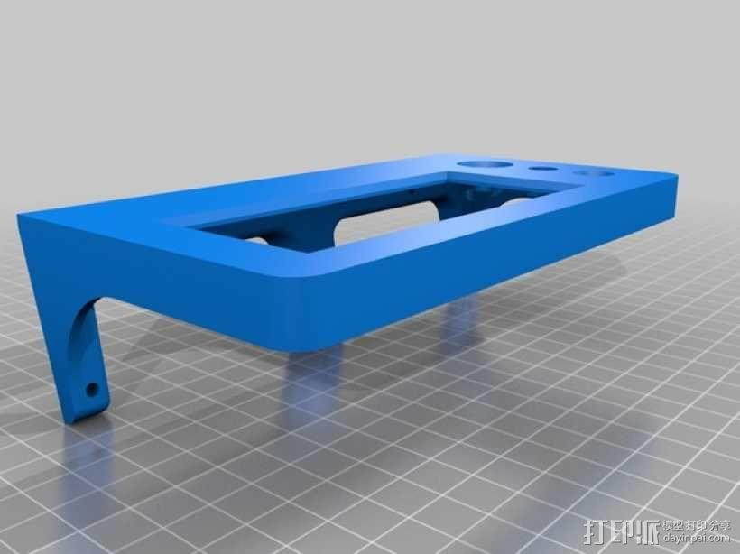 Kossel Mini打印机控制器LCD显示屏支架 3D模型  图7