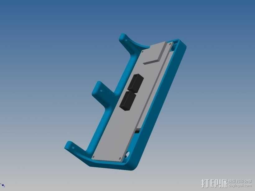 Kossel Mini打印机控制器LCD显示屏支架 3D模型  图6