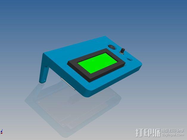 Kossel Mini打印机控制器LCD显示屏支架 3D模型  图5