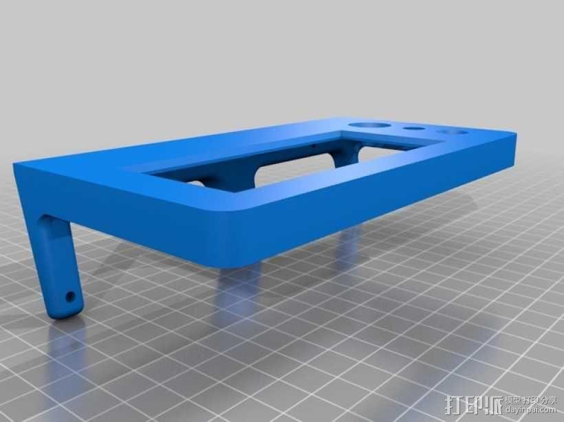 Kossel Mini打印机控制器LCD显示屏支架 3D模型  图8