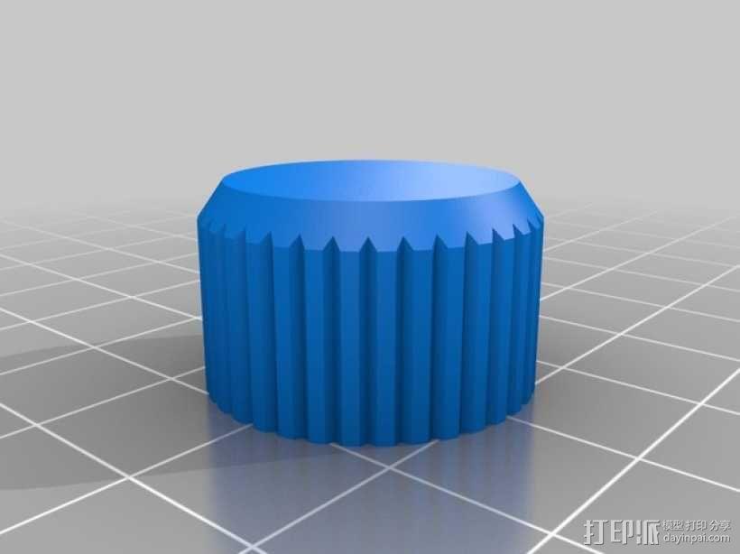 Kossel Mini打印机控制器LCD显示屏支架 3D模型  图9
