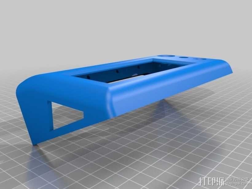 Kossel Mini打印机控制器LCD显示屏支架 3D模型  图11
