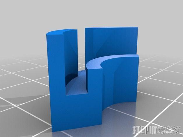 Flashforge Creator X打印机玻璃板垫片 3D模型  图4